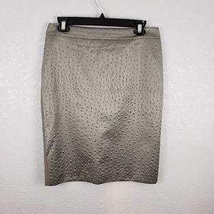 MaxMara 8 Matelasse knee length pencil skirt tan
